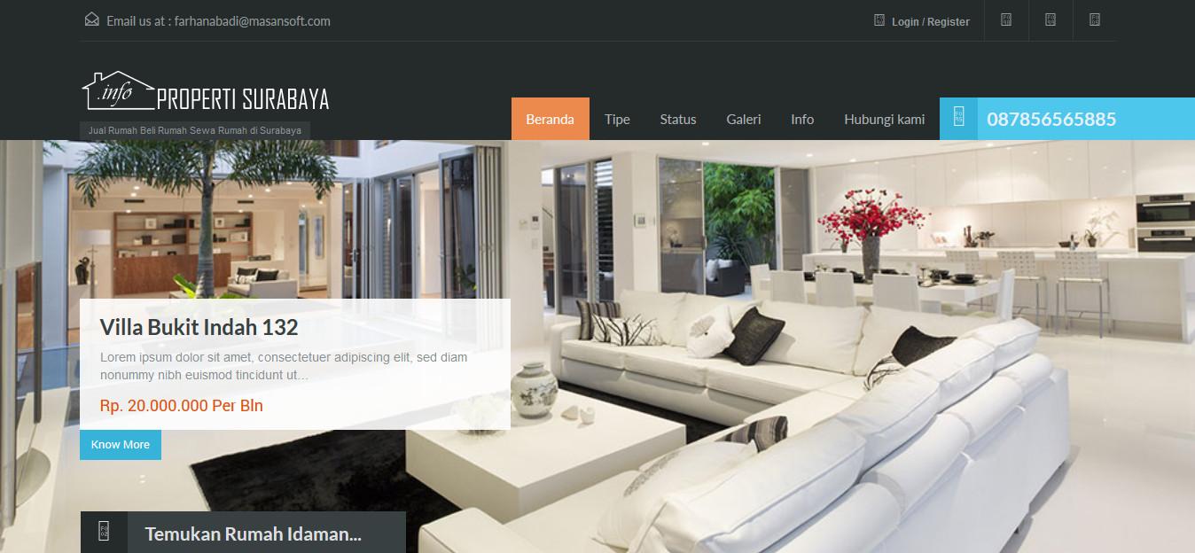 Website Agen Properti untuk Jual Beli dan Sewa Properti bisa Multi Agen